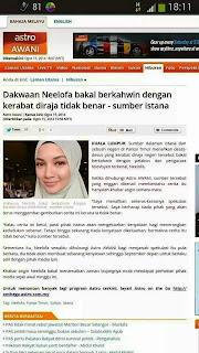 Neelofa Bakal Kahwin Sultan Kelantan