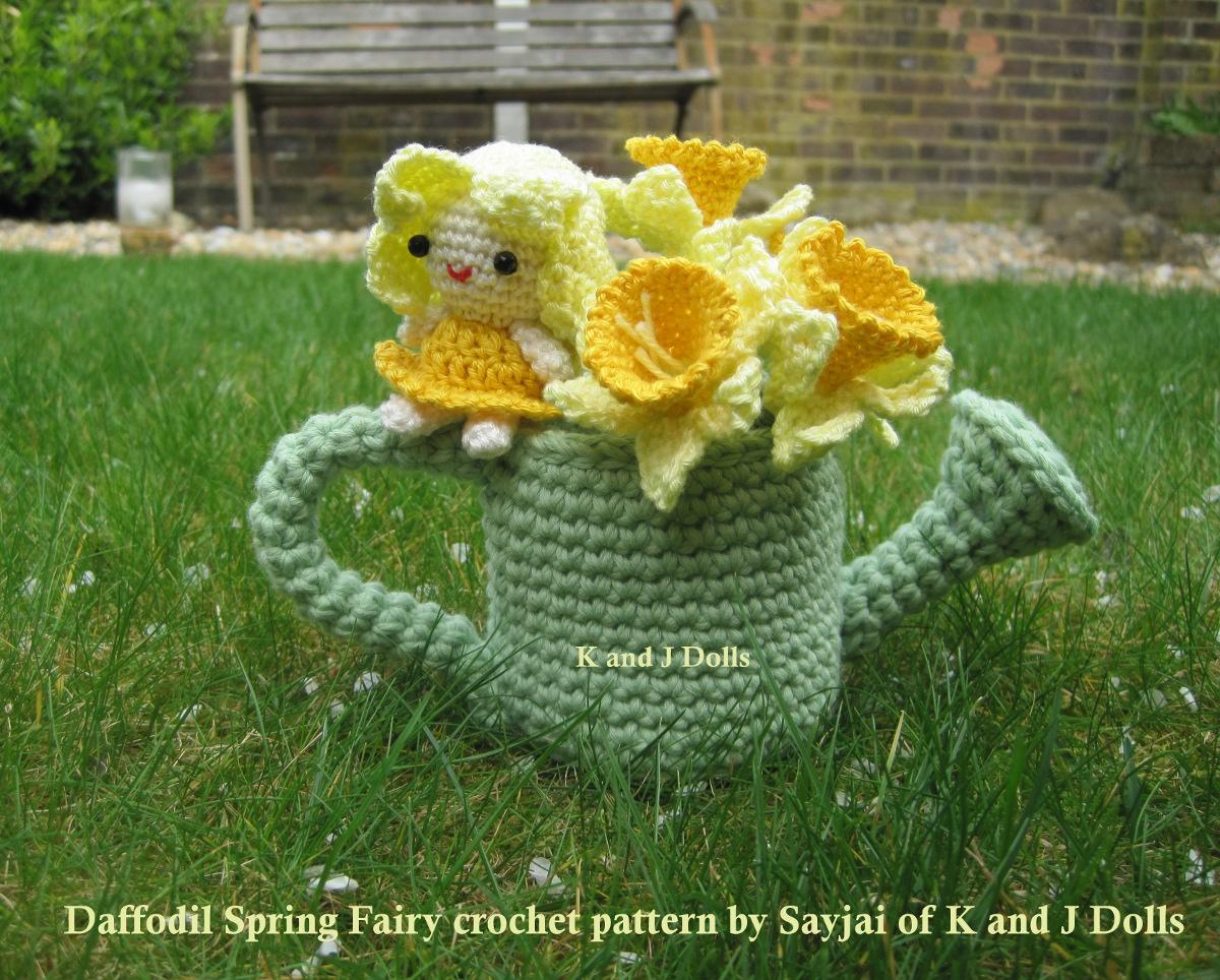 Free Amigurumi Patterns Uk : Daffodil spring fairy crochet pattern sayjai amigurumi crochet