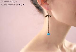 boucles d'oreille simple élégante Vanessa Lekpa evanescentes créations romantique poetique sensuel