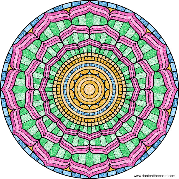 Dont Eat The Paste Lotus Mandala To Color