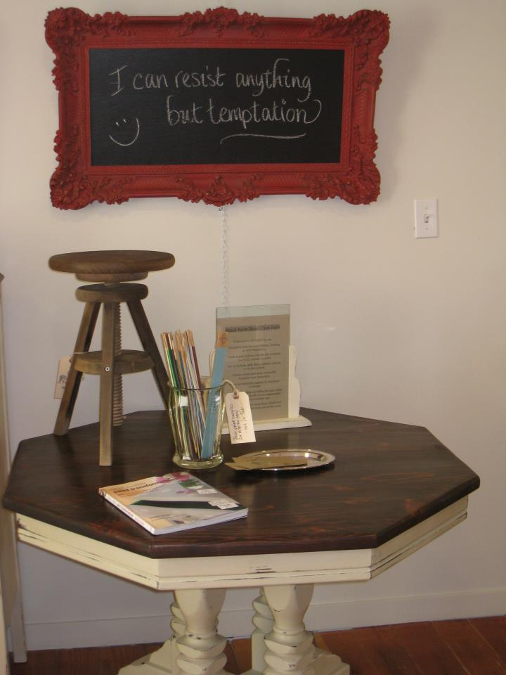 A french touch sold beautiful ornate framed chalkboard in annie sloan emperor 39 s silk Home furniture victoria street