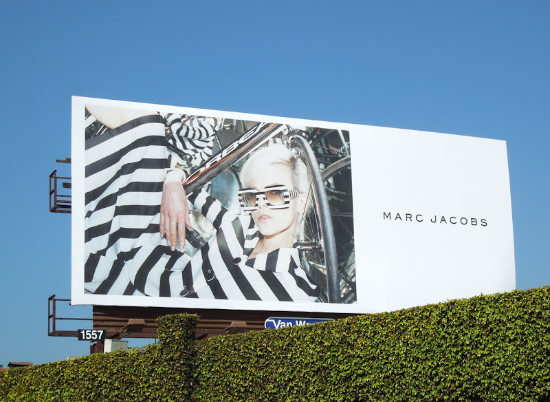 Marc Jacob Spring 2013 stripes billboard
