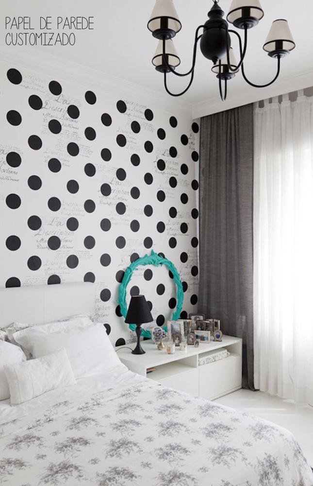 decorar com bolinhas- poás-papel de parede customizado