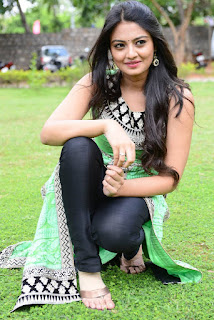 Nikitha Narayan Pictures in Salwar Kameez at Mellagaa Thattindi Manasu Talupu Press Meet