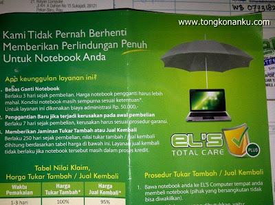 Layanan EL'S Total Care - Perlindungan Laptop dari ELS Jogjakarta