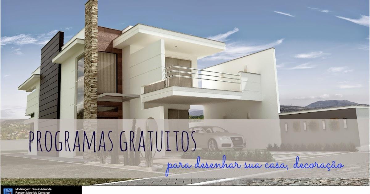 Programas para desenhar plantas de casas for Programas para crear casas en 3d gratis