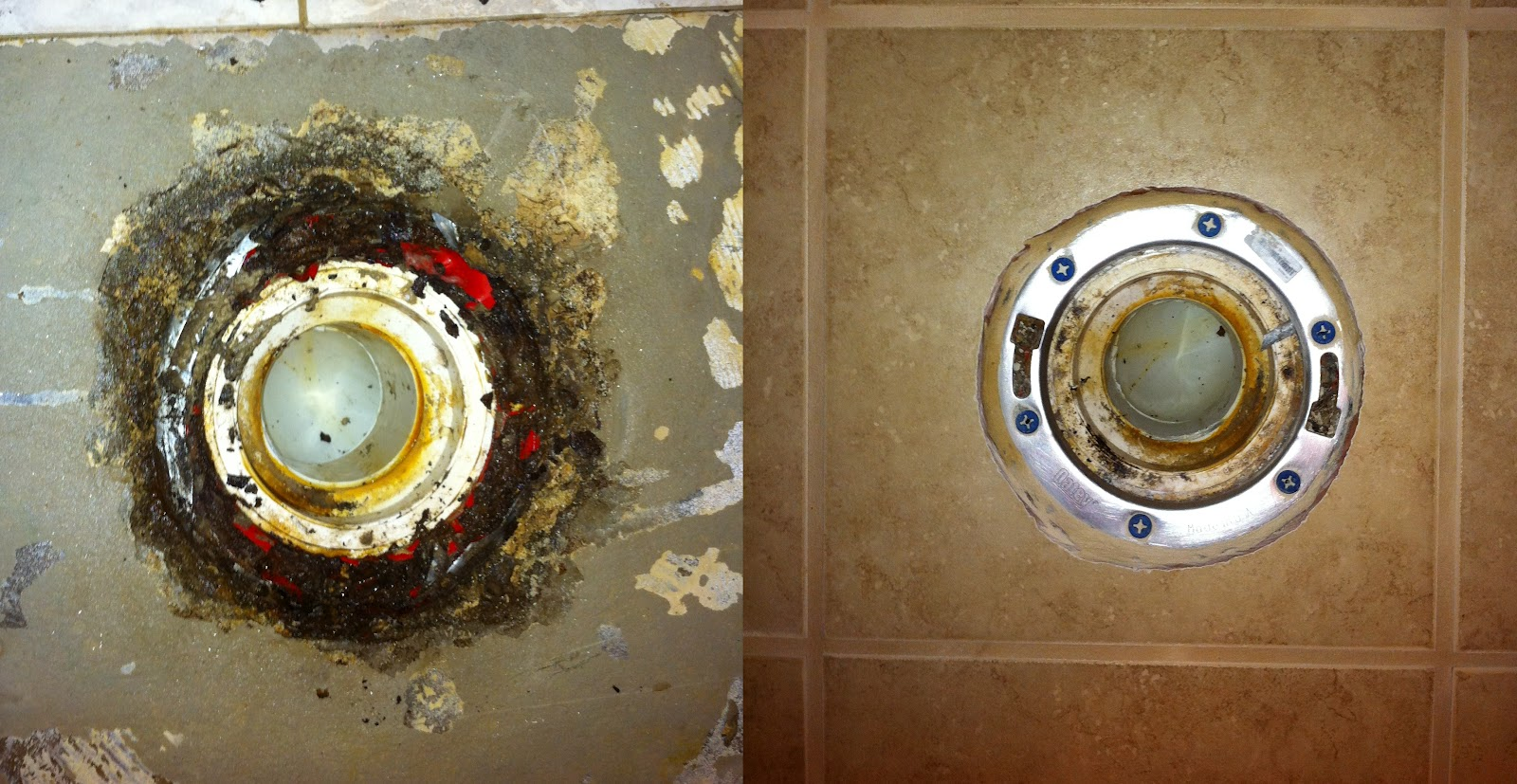 Henderson\'s Home Improvement LLC: Bathroom tile and toilet flange repair