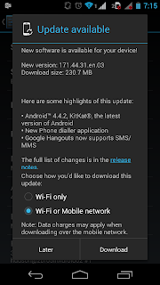 Moto G 4.4.2 KitKat update notification
