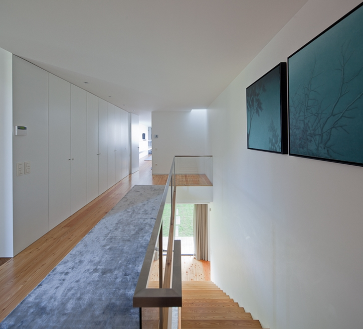 Gallery in Black Concrete House by Pitagoras Arquitectos