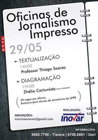 Oficinas jornalismo impresso - UFPB