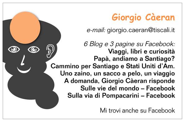 biglietto da visita di Giorgio Càeran