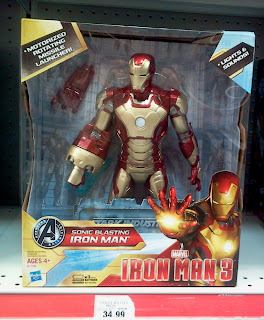 """Hasbro Iron Man 3 12"""" Sonic Blasting Iron Man"""