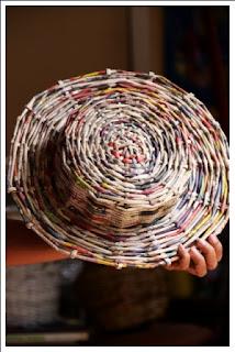 kerajinan tangan dari barang bekas - topi