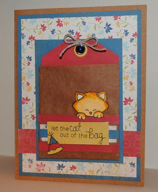 Newton's Birthday Bash Kitty Card by Debbie Owens for Newton's Nook Designs