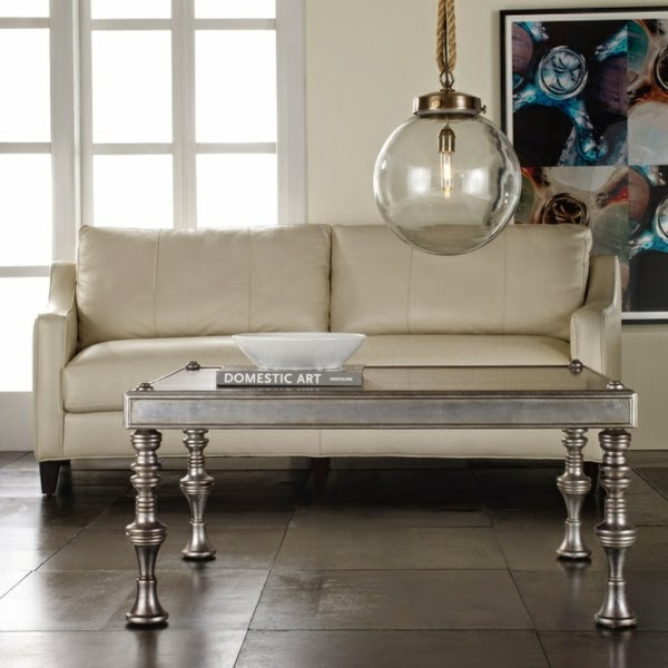 Silver Coffee Table Design Simple With Glass