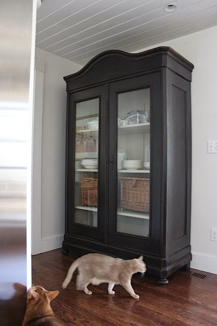 An Urban Cottage: The Kitchen Armoire