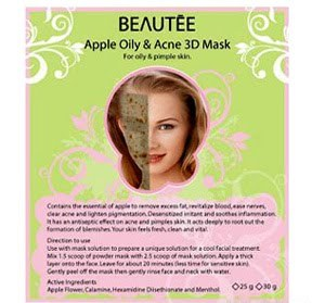 Beautee 3D Green Apple Peel Off Rubber Mask