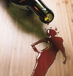 Wine spill