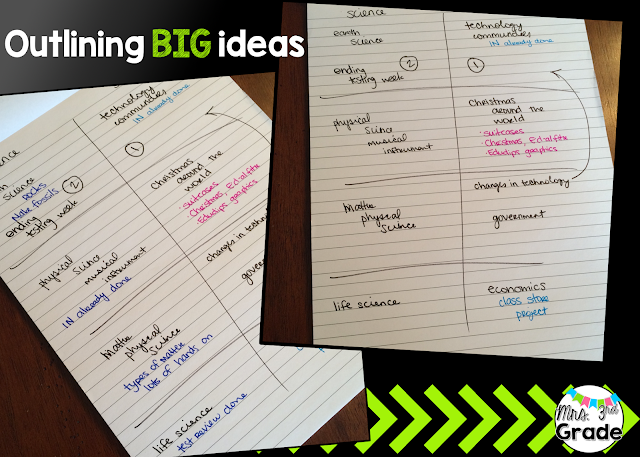 Outlining the big ideas, and filling in details
