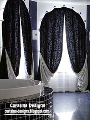 Black And White Panel Curtains: