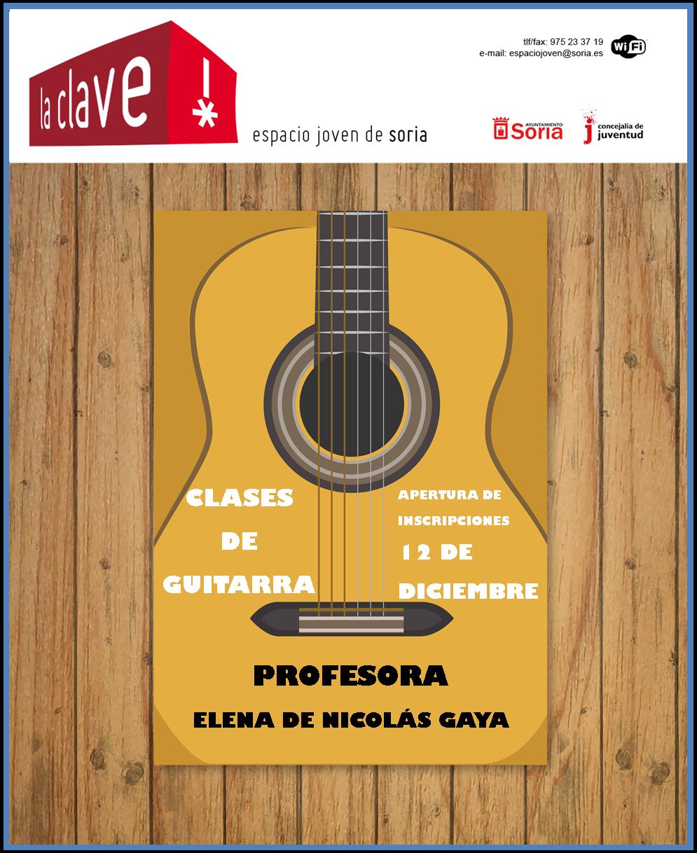 """APÚNTATE A LAS CLASES DE GUITARRA HACIENDO """"CLICK"""" EN EL SIGUIENTE CARTEL"""