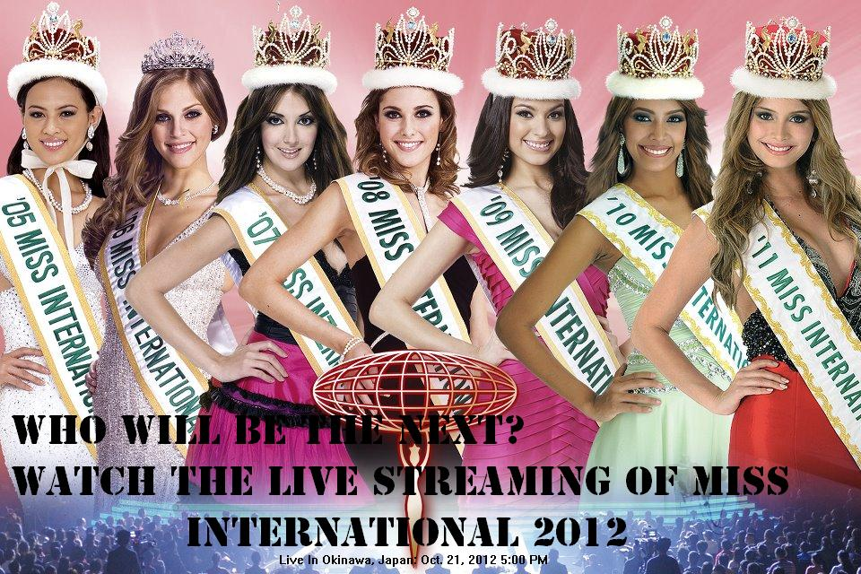 Watch Miss International 2012 Live Stream Online