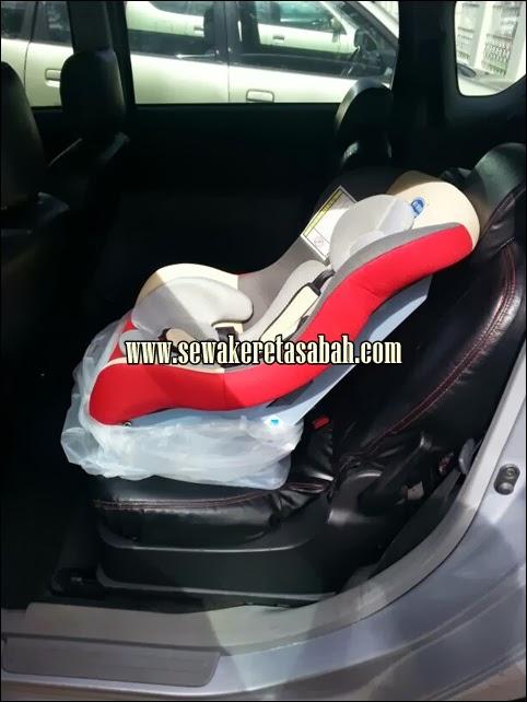 child seat kereta sewa sabah