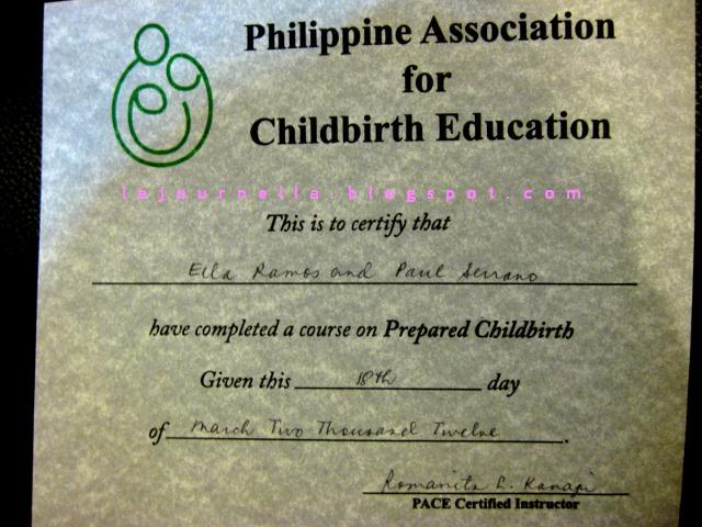 la journ\'ella: Our Lamaze childbirth class with Rome Kanapi
