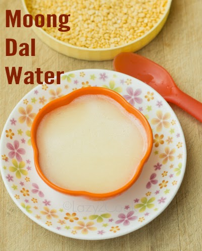 moong dal water for baby
