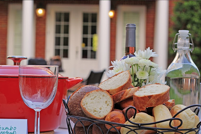 food and bread basket | Cordier Event Planning