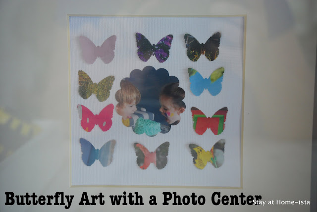 butterfly art with a photo