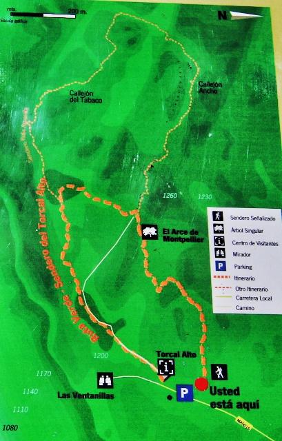 Mapas de las Rutas por el Torcal de Antequera