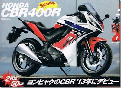 Revista japonesa divulgou uma foto da CBR 400R