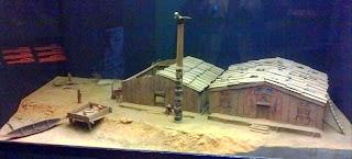 Kawkiutl village diorama