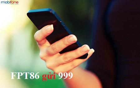 Cú pháp đăng ký gói Phát lộc FPT86 Mobifone