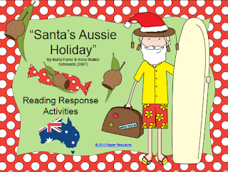 http://www.teacherspayteachers.com/Product/Santas-Aussie-Holiday-Reading-Response-Activities-986534