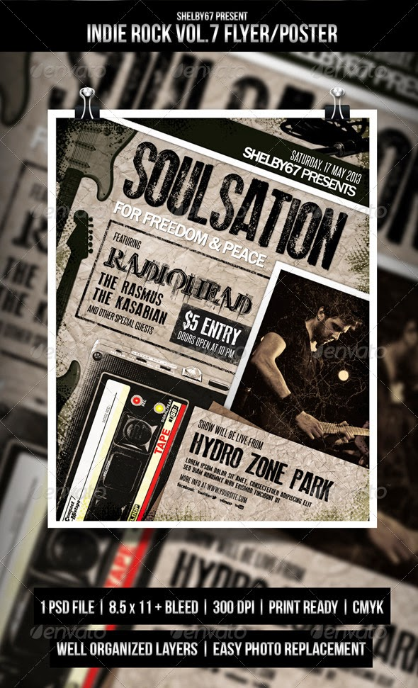 Indie Rock Flyer / Poster Vol.7 | HD Flyer Templates