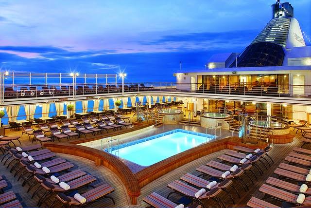 Basseng på Silversea cruiseship