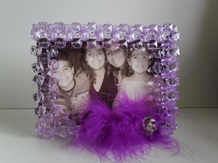 Porta retrato lilás