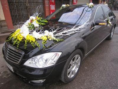 cho thuê xe cưới cô dâu Mercedes S500 tại Hà Nội