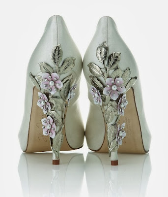 Flowery High Heel Shoe