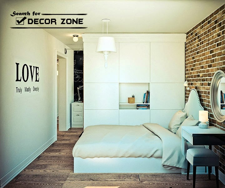 One-bedroom studio apartment design with open interior