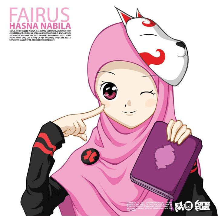 Kartun Akhwat Berjilbab Pink Dakwah Islam Kumpulan Gambar Tag Islami