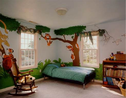 Art wall decor kids room decorating ideas boys cookey for Childrens bedroom wall designs