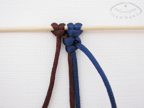 Podwójny węzeł łańcuszkowy wykonywany na 4 sznurkach - 5