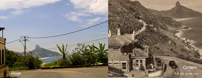 Estrada do Joá, era o único acesso para região que hoje é a Barra da Tijuca.