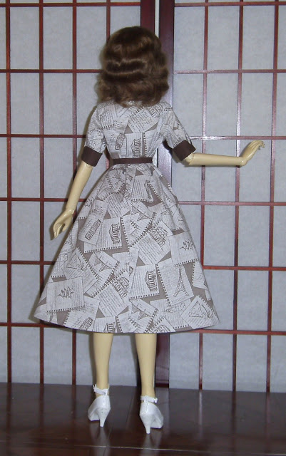 1950s retro ball joint doll dress