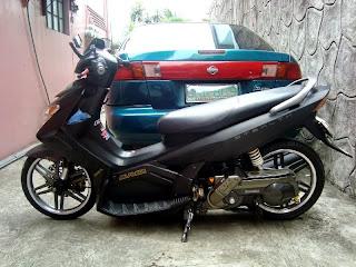 Modifikasi Yamaha Nouvo Hitam