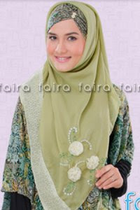 Faira Jilbab BA 374 - Hijau Abu (Toko Jilbab dan Busana Muslimah Terbaru)
