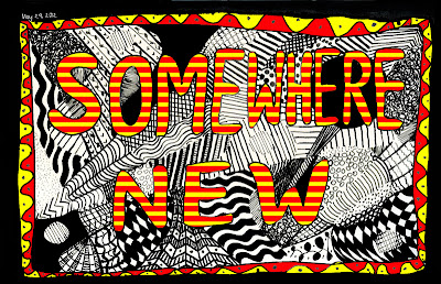Somewhere new doodle by © Ana Tirolese